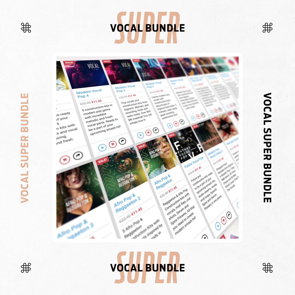 Vocal Super Bundle From Diginoiz For Pro Producers
